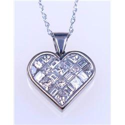 19CAI-35 HEART SHAPED DIAMOND PENDANT