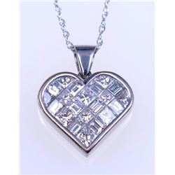 19CAI-35 HEART SHAPED DIAMOND PENDANT