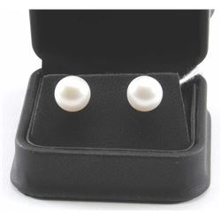 19RPS-22 PEARL STUD EARRINGS