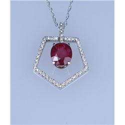 19CAI-55 RUBY & DIAMOND PENDANT