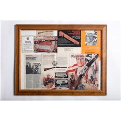 19RX-1 FRAMED WINCHESTER ADVERTISER
