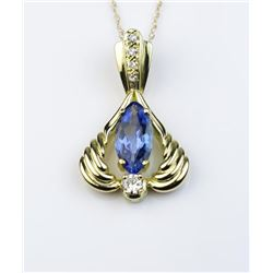 19CAI-61 TANZANITE & DIAMOND PENDANT