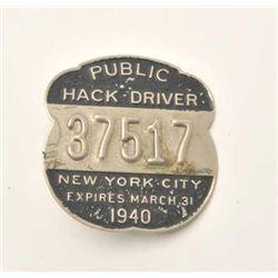 18DC-28 1940 HACK DRIVER