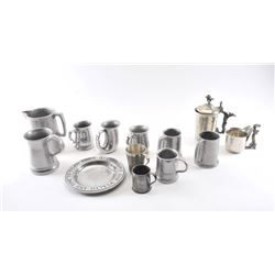 19OX- 36 LOT OF SILVER PLATED PEWTER