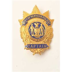 18DC-21 POLICE CAPT. BADGE