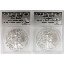 2012-S AND 2012 AMERICAN SILVER EAGLES