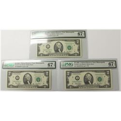 (3) 2003 $2.00 FEDERAL RESERVE NOTES