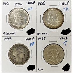 HALF DOLLAR LOT - 4 COINS TOTAL