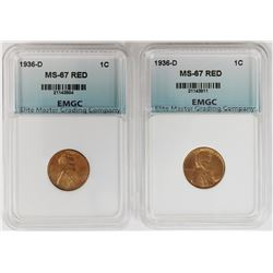 (2) 1936-D LINCOLN CENTS