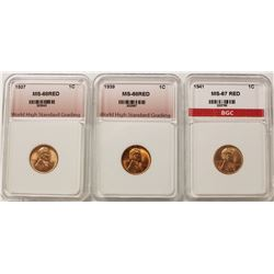 THREE LINCOLN CENTS: