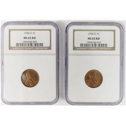 2-1936-S LINCOLN CENTS