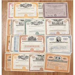 100 MIXED LARGE AVATION AND RAILROAD STOCK CERTS