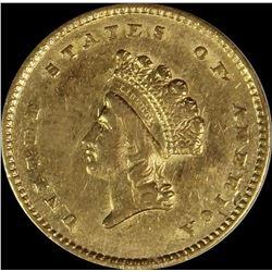 1854 $1.00 GOLD