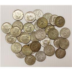 33 PCS. KENNEDY HALF DOLLARS