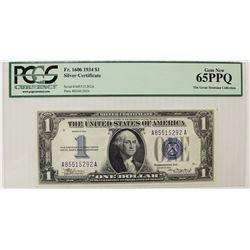 1934 $1.00 FR1606 FUNNYBACK