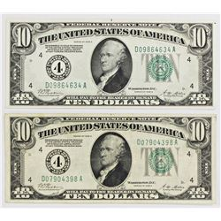 TWO 1928-A FEDERAL RESERVE NOTES