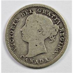 1884 CANADA DIME