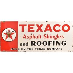 Texaco Shingles Porcelain Sign 1936
