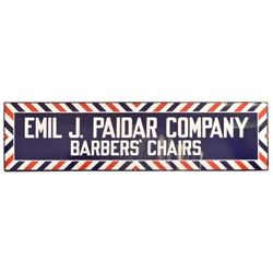 Emil J. Padair Barber Chairs Porcelain Sign