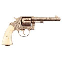 Engraved Colt 1917 DA Revolver .45ACP
