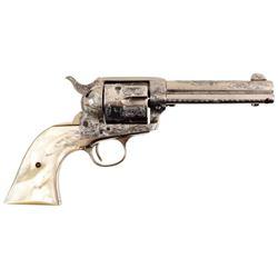 Engraved Colt Model 1873 SA .38 Special
