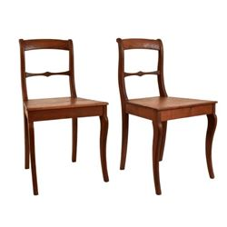 Pair of Jahn Chairs Pictured Texas Furniture Book