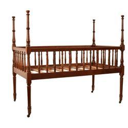 Early Texas Furniture Antique Walnut Crib