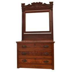 Jahn Stamped New Braunfels Texas Dresser