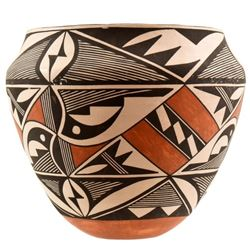 Acoma Polychrome Indian Pottery Jar