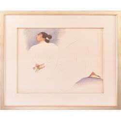 "R.C. Gorman ""Maria Del Reposa"" Original Painting"