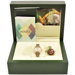 Rolex 18k Gold & SS Date Just Ladies Watch