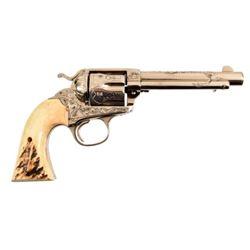 Engraved Colt Model 1873 SA Bisley .44-40