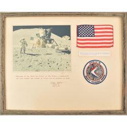 Apollo 15 Moon Landing Presentation U.S. Flag