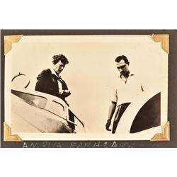 Amelia Earhart Original Photo in 1937 Photo Album