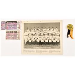 1945 Detroit Tigers World Series Tickets & Photo