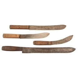 4 Early Knives Green River Works, Lamson & Goodnow