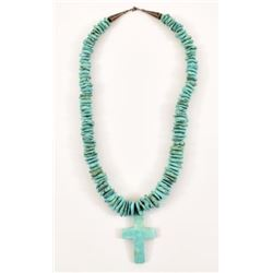 Turquoise Cross Pendant & Necklace