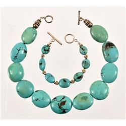Sterling Silver Turquoise Necklace & Bracelet