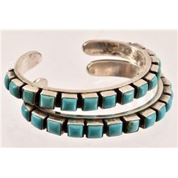 Sterling Silver Turquoise Bracelet Pair