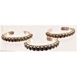 (3) Sterling Silver Cuff Bracelets
