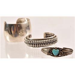 (3) Sterling Silver Indian Bracelets