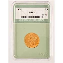 1905 $5 Gold Coin MS-62