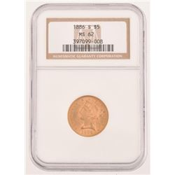 1886-S $5 Gold Coin MS-62