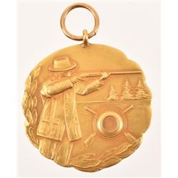 14K Gold Delaware 1926 Shooting Medal