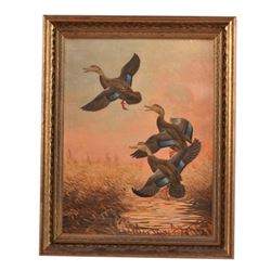 Edgar Burke Waterfowl Oil Painting