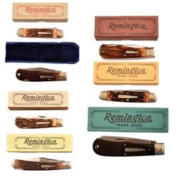 7 Assorted Remington UMC Pocket Knives In Box