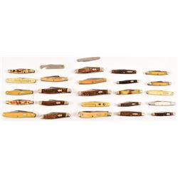 Collection of (26) Schrade Walden Pocket Knives