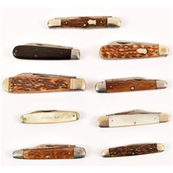 Collection of 9 Cattaraugus Pocket Knives