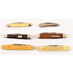 6 Miller Brothers Pocket Knives