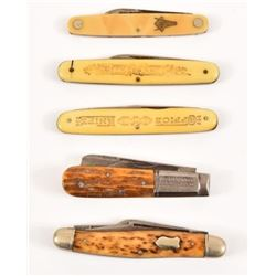 5 Hibbard Spencer & Bartlett Pocket Knives